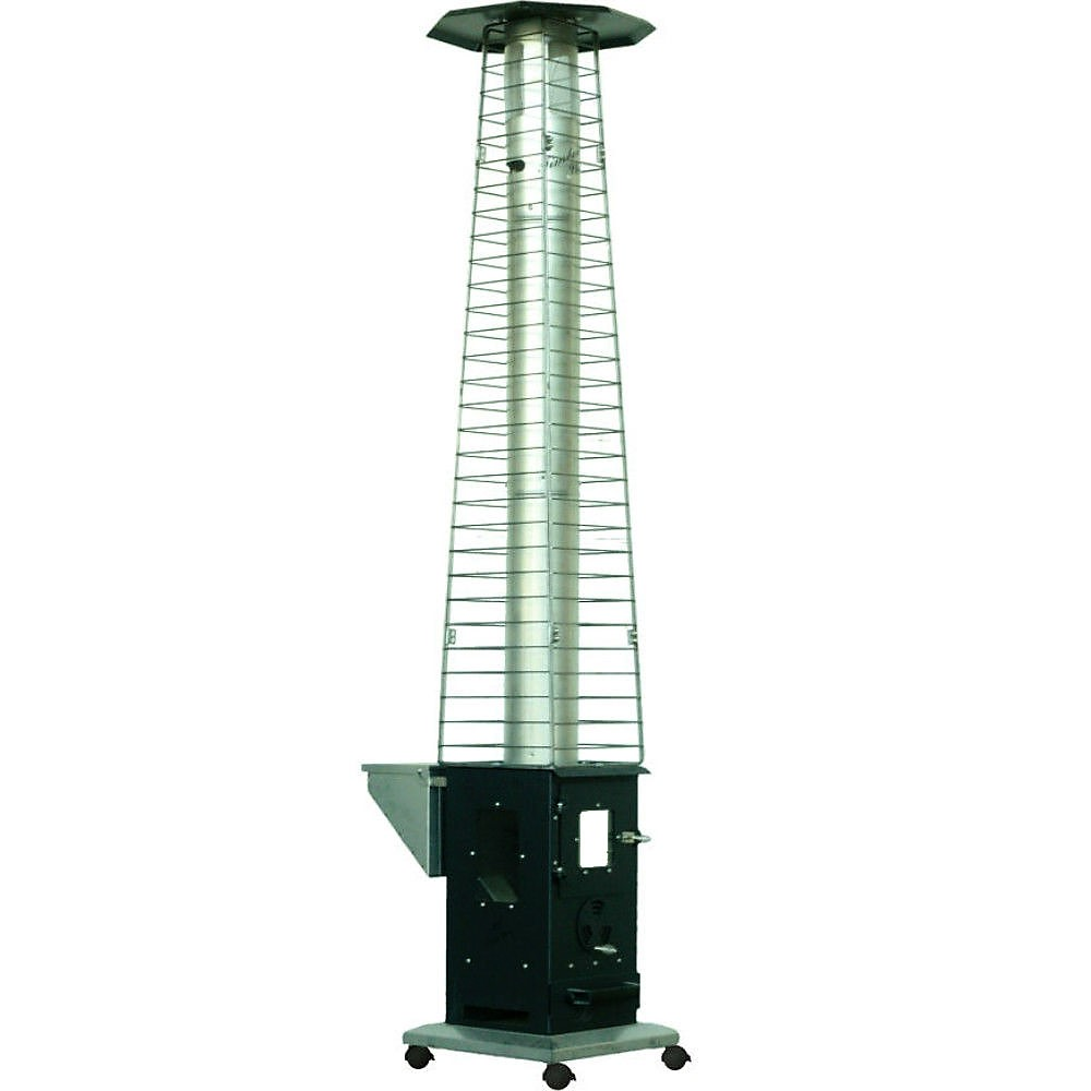 An Outdoor Wood Pellet Patio Heater The Lil Timber