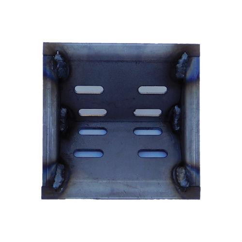 V Channel firepot for wood pellets