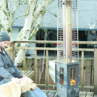 The Big Timber standing patio heater