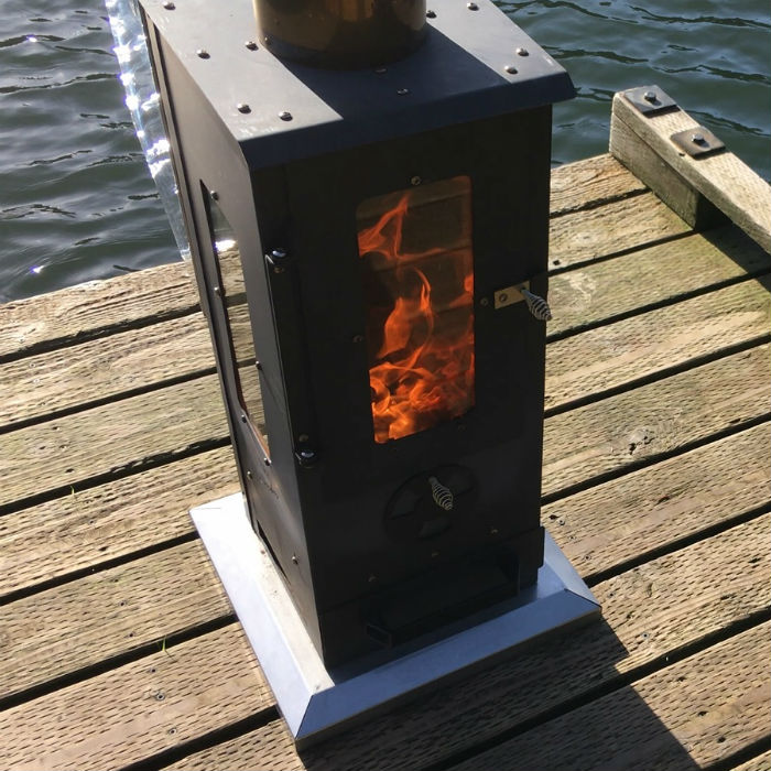 Commercial sized wood pellet patio heater the big timber