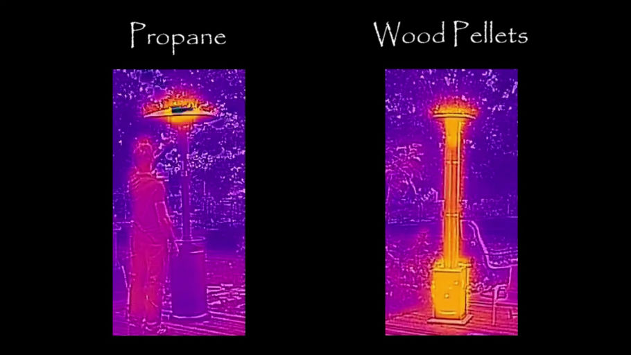 The Original Wood Pellet Patio Heater