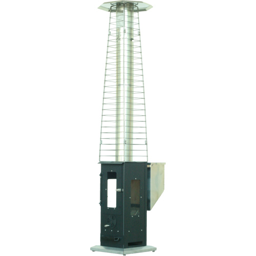 Big Timber Outdoor heater with safety cage for stove pipe