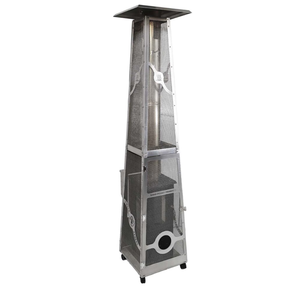 The new Lil' Timber Elite patio heater with mesh screen
