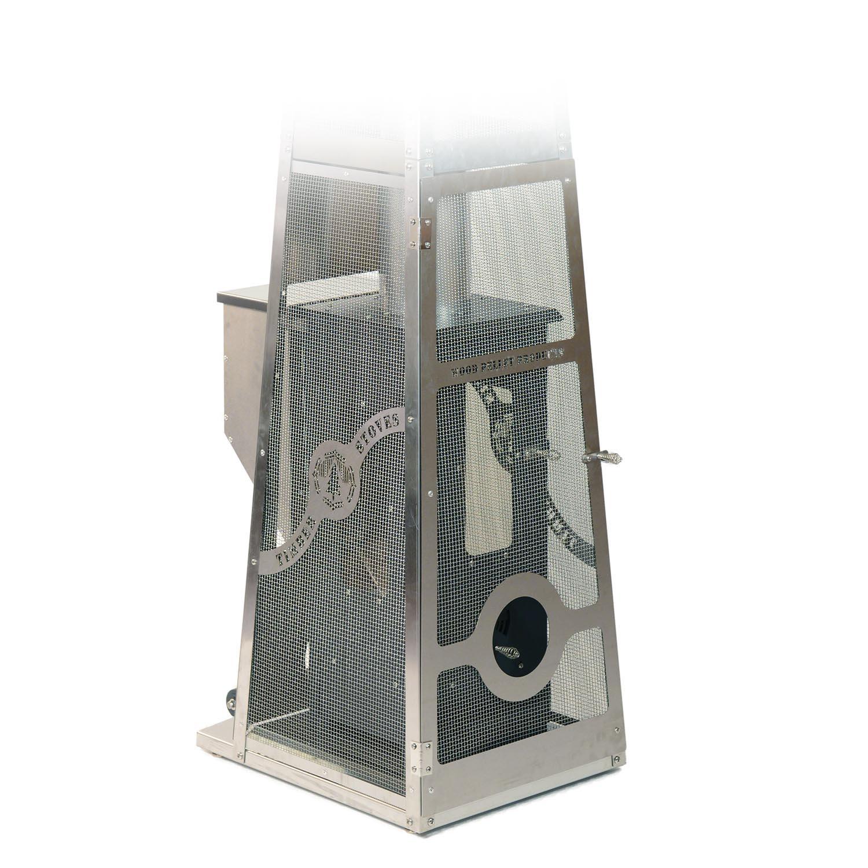 The Big Timber Elite Patio Heater with the door open