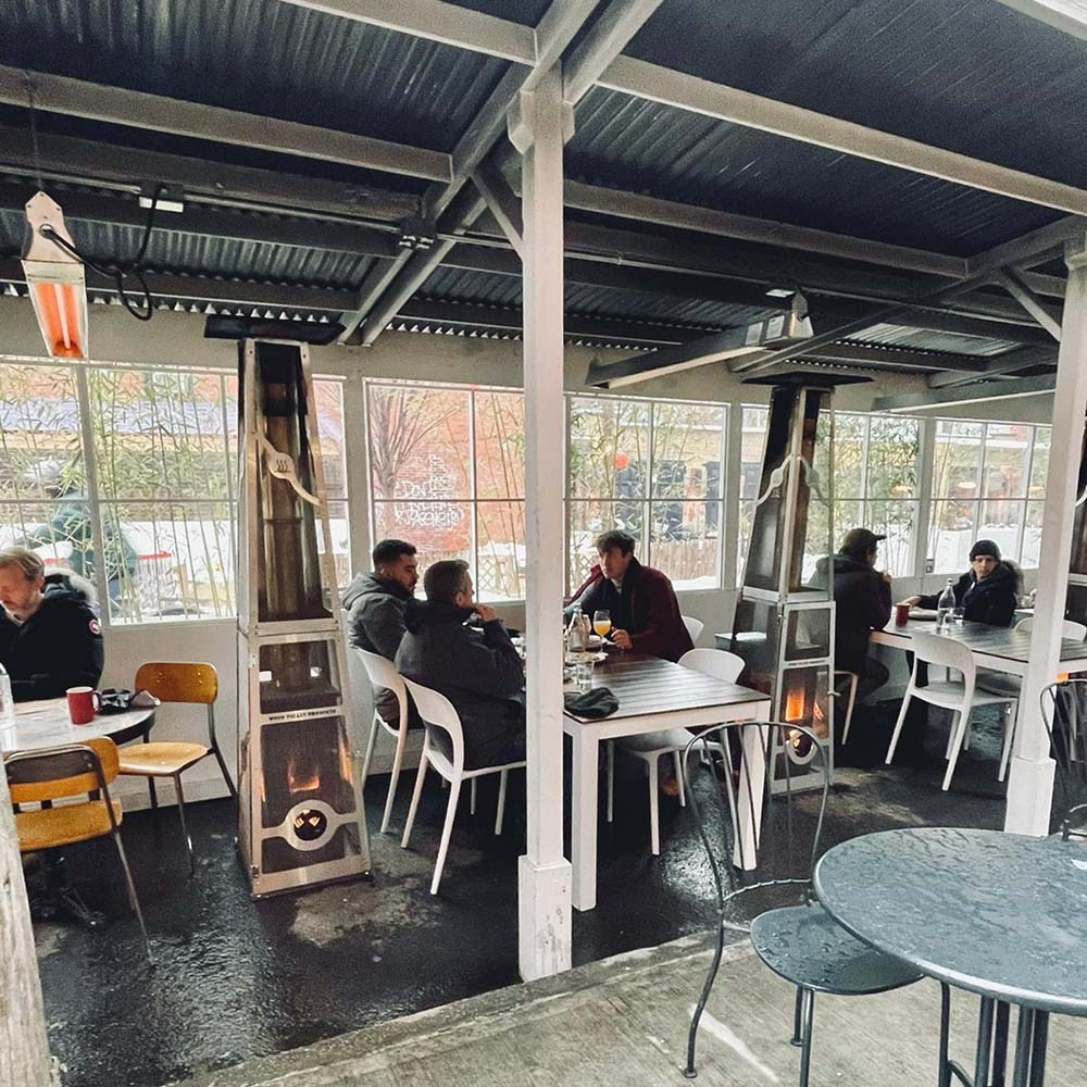 Wood pellet fired commercial patio heaters from Timber Stoves